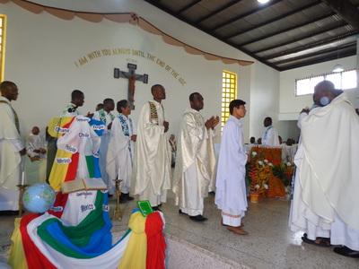 3 SVDs Ordained Priests Frs. Emmauel Adjei Adjetey,Vincent Agbeyome-Akpah and Eugene Bruce Konuah Asante